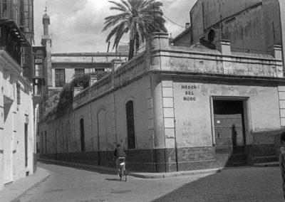 Calle Mateos Gago esquina con calle Mesón del Moro